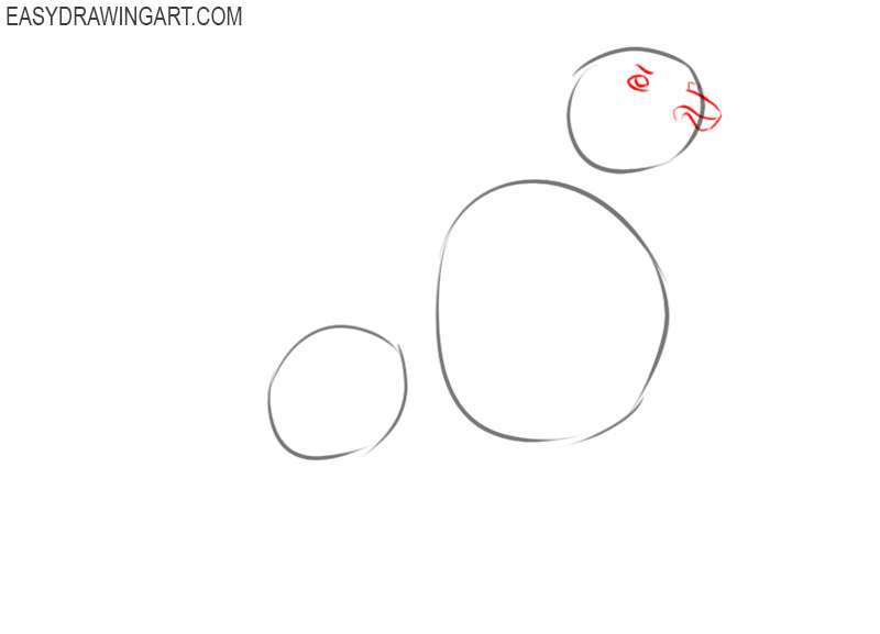 how to draw simba step by step easy