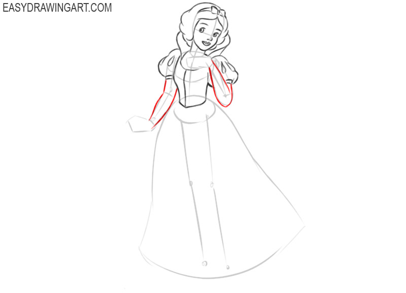 how to draw snow white disney