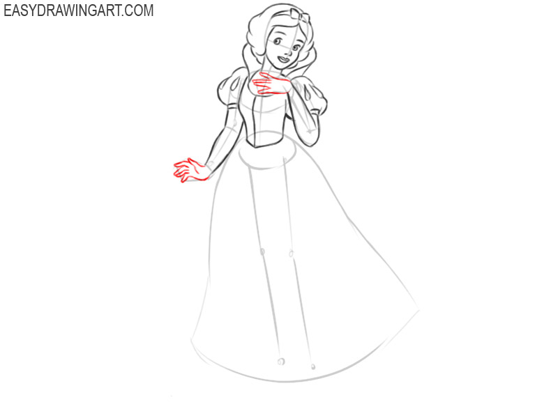 how to draw snow white drawing