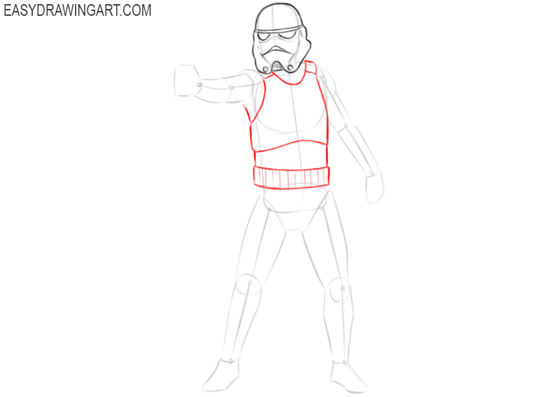 how to draw star wars stormtrooper step by step