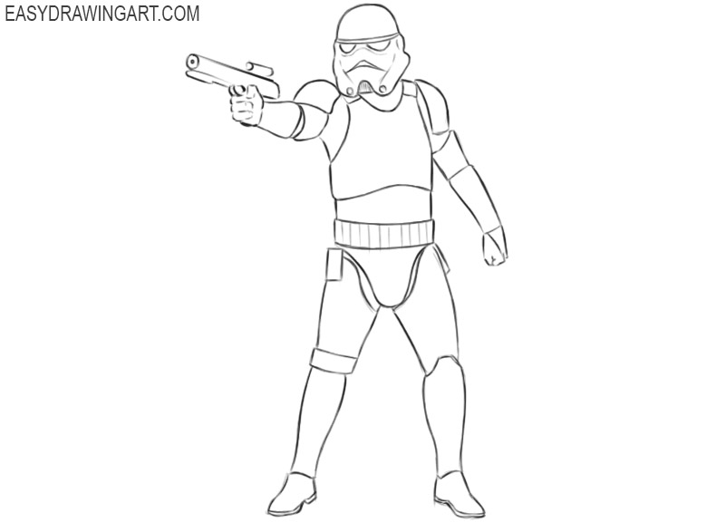 how to draw star wars stormtrooper