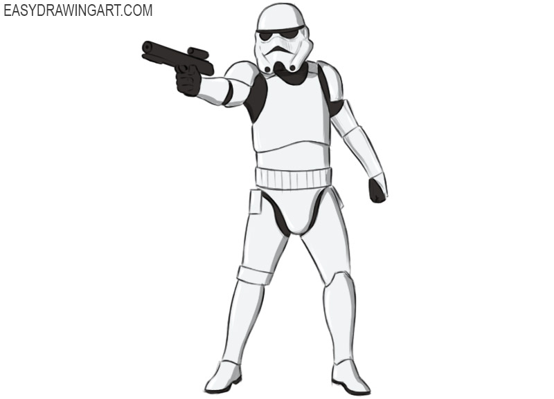 how to draw stormtrooper easy