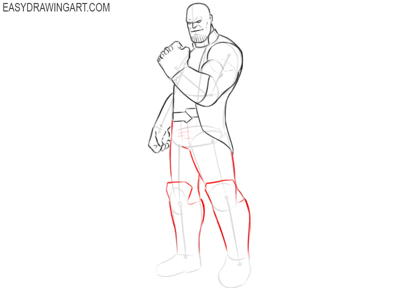 how to draw thanos comic