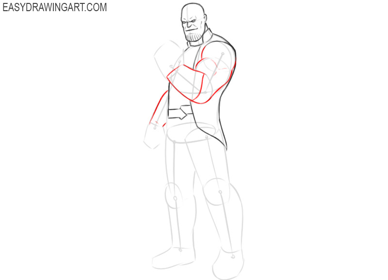 how to draw thanos for beginners