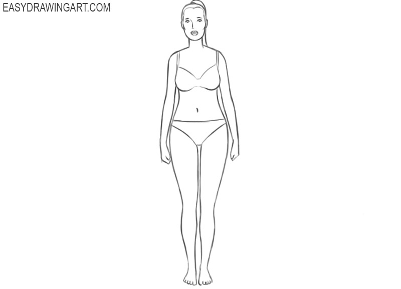 how to draw the female body step by step