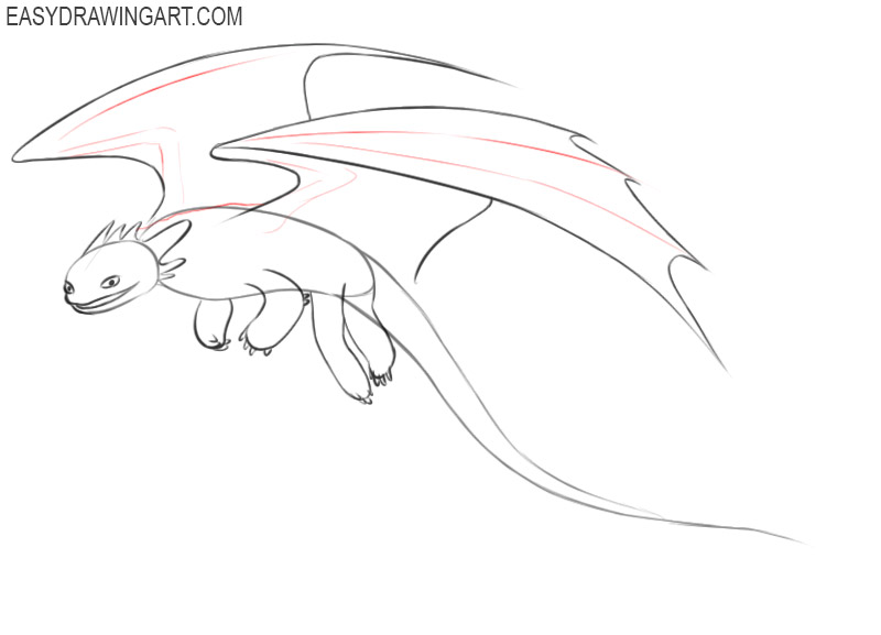 how to draw toothless dragon cute