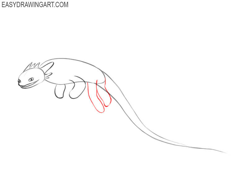 how to draw toothless so cute