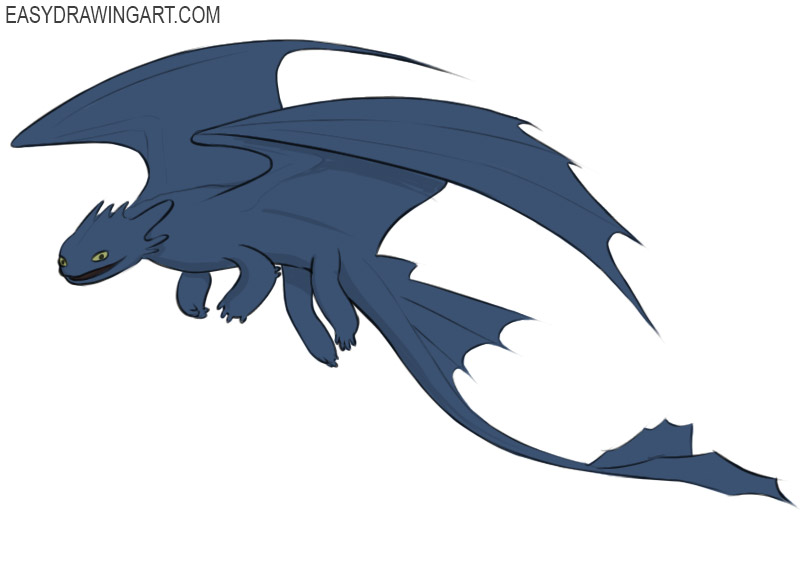 How To Draw Toothless Easy Drawing Art