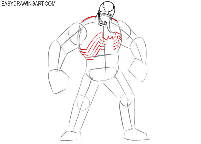 how to draw venom color