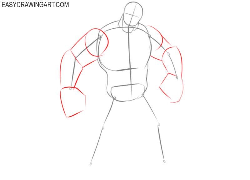 how to draw venom step by step easy