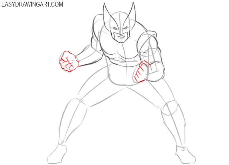 how to draw wolverine comic