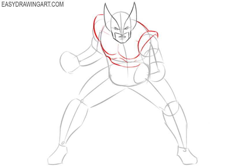 how to draw wolverine hugh jackman step by step