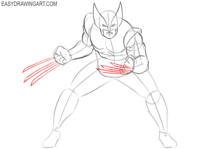 how to draw wolverine marvel