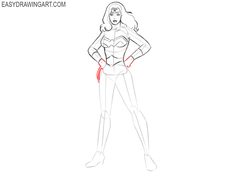how to draw wonder woman drawing