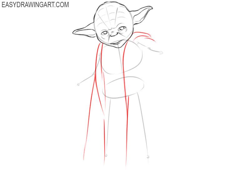 how to draw yoda really good