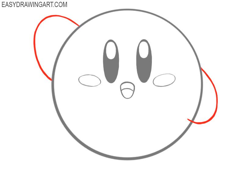 kirby how to draw kirby