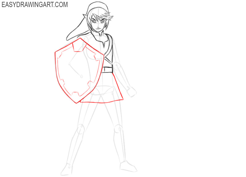 link drawing step by step