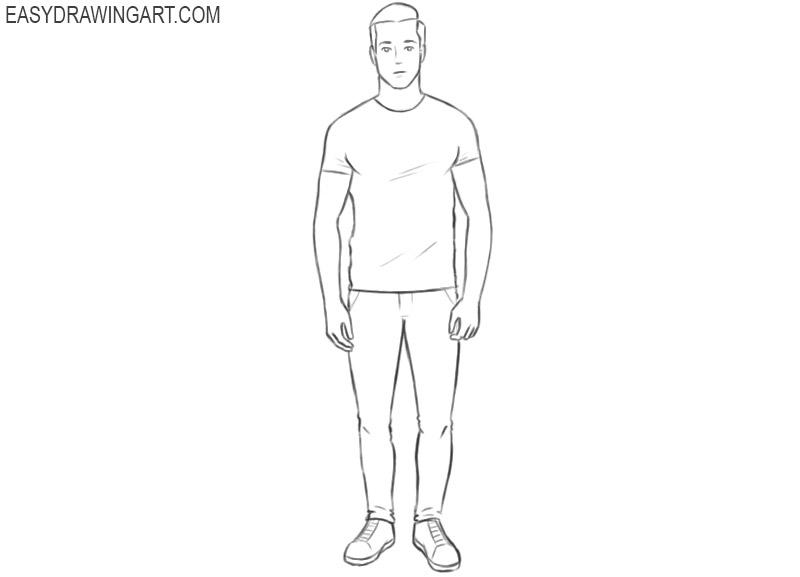 man drawing basic