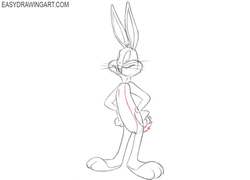 steps on how to draw bugs bunny