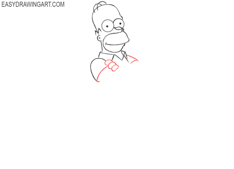 steps on how to draw homer simpson