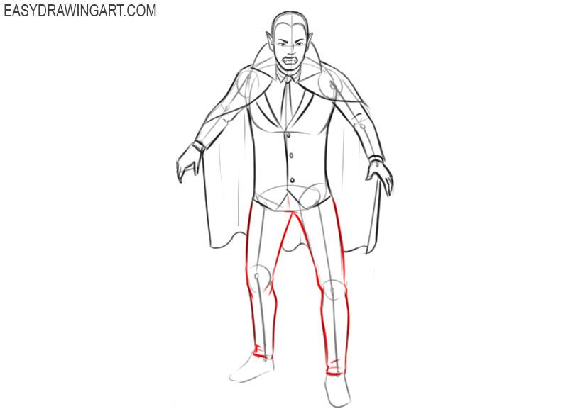 vampire drawing cartoon