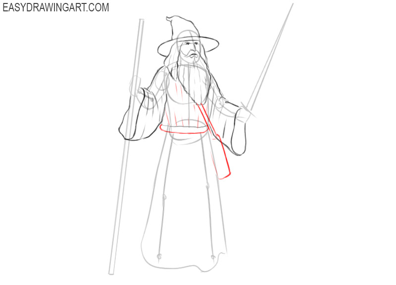 wizard drawing step by step