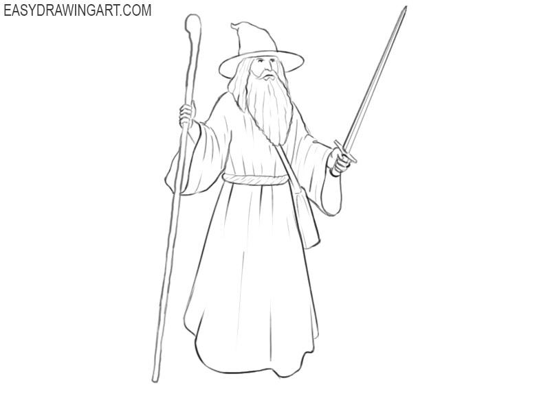 wizard fantasy drawing