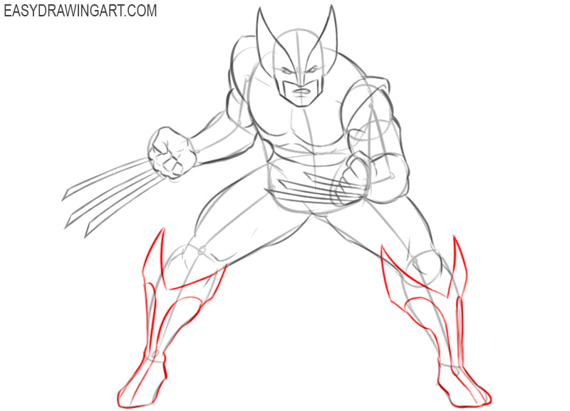 wolverine drawing color