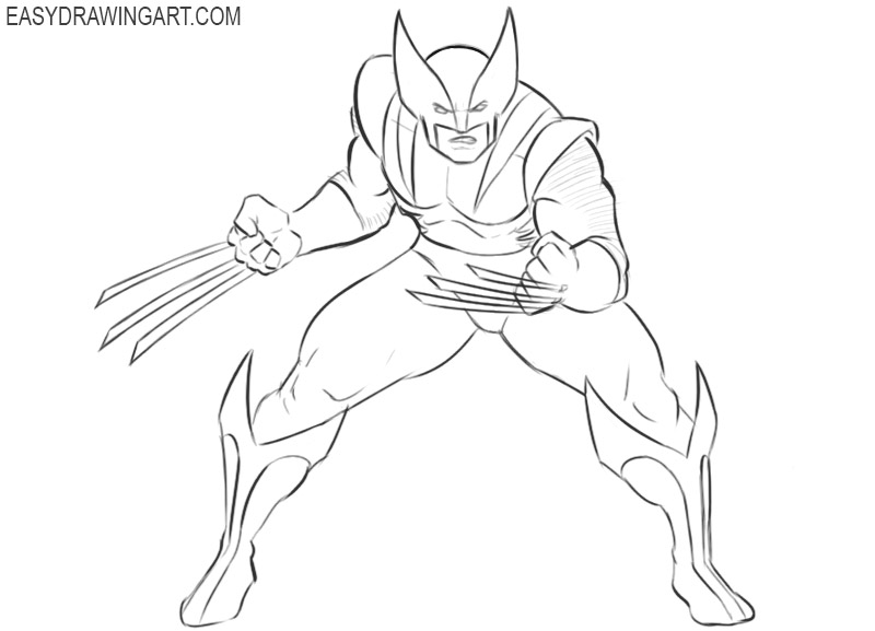 wolverine drawing in pencil