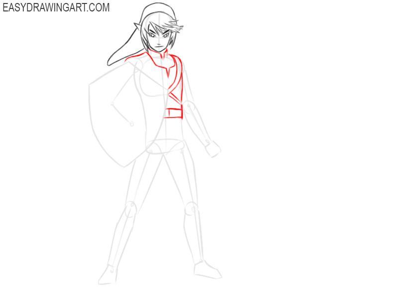 zelda link drawing