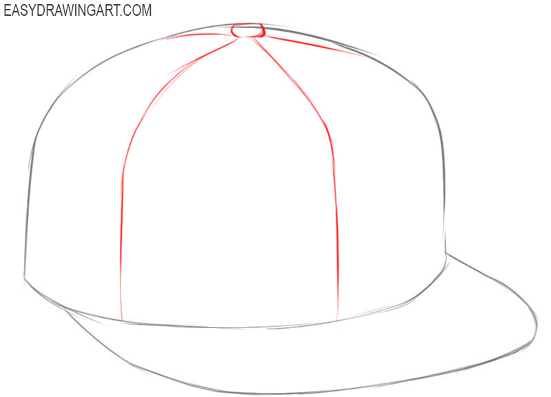 How to draw a cap easy step by step