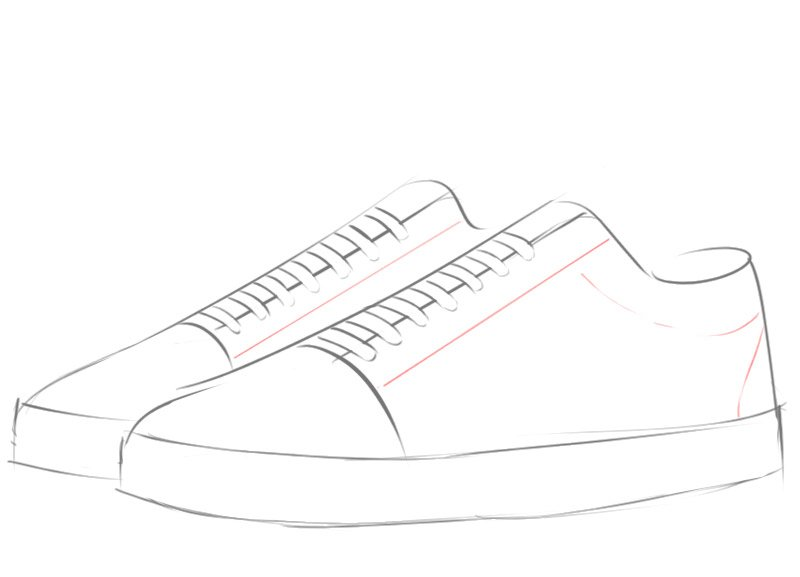 Learn how to draw a Sneakers