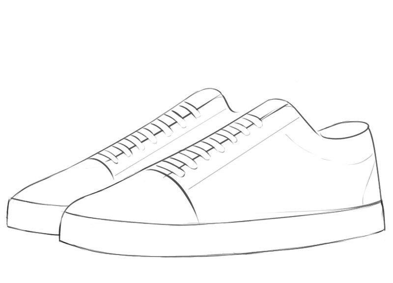 Sneakers drawing tutorial