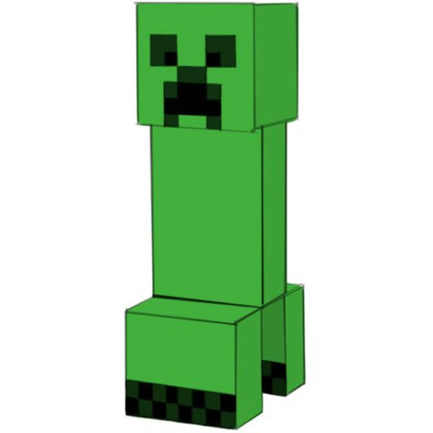 How to draw Creeper