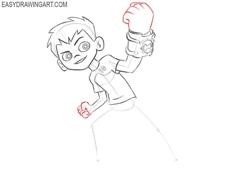 ben 10 drawing easy