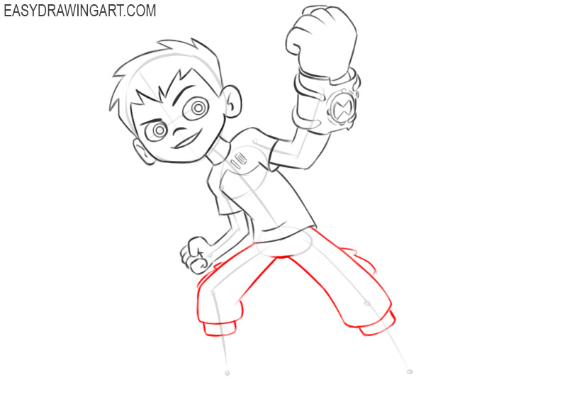ben 10 drawing step by step
