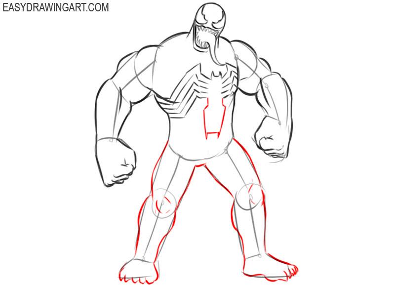 Venom drawing tutorial